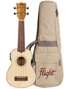 Flight DUS320CEQ Soprano Electro Acoustic Ukulele