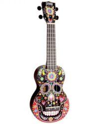 Mahalo Soprano Ukulele Day Of The Dead Design