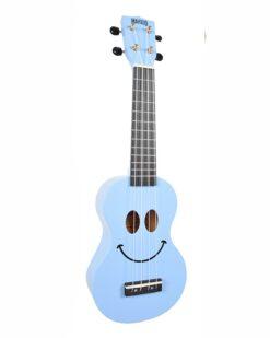 Mahalo Soprano Ukulele Art Design Smile Light Blue