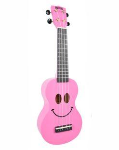 Mahalo Soprano Ukulele Art Design Smile Pink With Bag