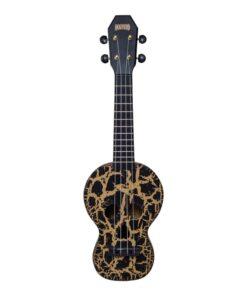 Mahalo Soprano Ukulele Skull Design Black
