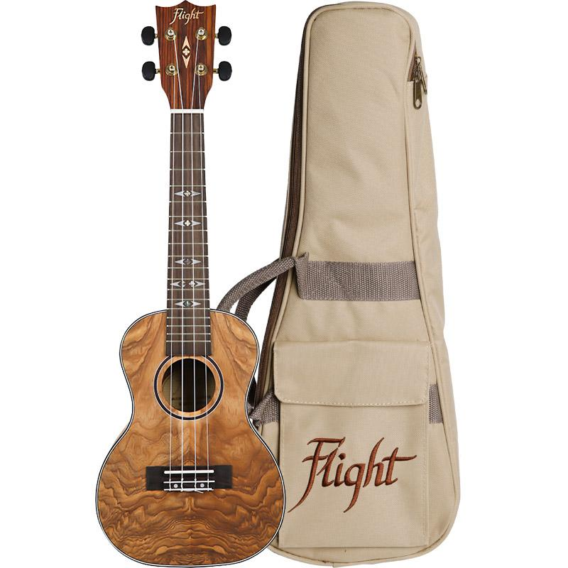 Flight DUC410 Concert Ukulele Quilted With Bag