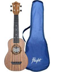 Flight TUS50 ABS Travel Soprano Ukulele Walnut Free Shipping