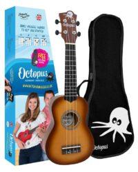 Octopus metallic burst series soprano ukulele