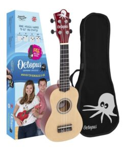 Octopus natural series soprano ukulele