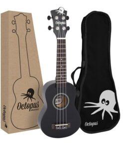 Octopus natural series soprano ukulele Matt black
