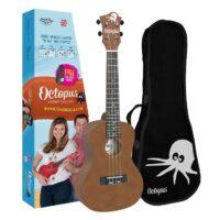Octopus concert ukulele Brown natural
