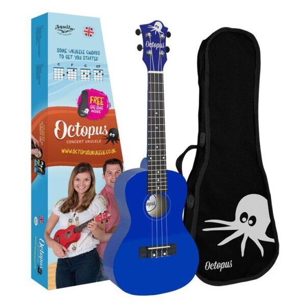 Octopus Concert Ukulele Dark blue