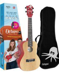 Octopus concert ukulele Yellow natural