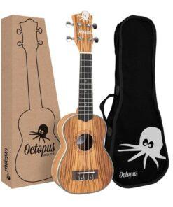 Octopus zebrawood soprano ukulele