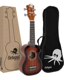 Octopus Mahogany soprano ukulele in gloss finish