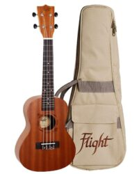 Flight NUC310 Concert Ukulele Sapele with Bag