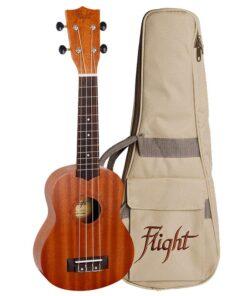 Flight NUS310 Soprano Ukulele Sapele With Bag