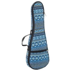 Octopus soprano ukulele bag ~ Aztec blue
