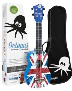 Octopus concert ukulele bag ~ Aztec blue