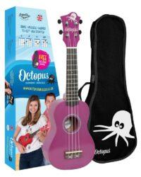 Octopus metallic series soprano ukulele Purple