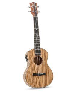 Snail UKT-528EQ Electro Acoustic Zebrawood Tenor Ukulele