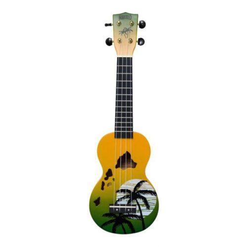Mahalo Soprano Ukulele Hawaiian Green