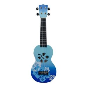 Mahalo Soprano Ukulele Hibiscus Blue
