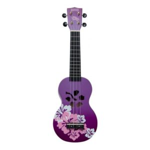 Mahalo Soprano Ukulele Hibiscus Purple